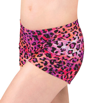 Girls Leopard Dance Shorts - Style No FD0201C
