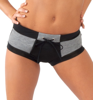 Adult Grey Brief Dance Shorts - Style No FD0205