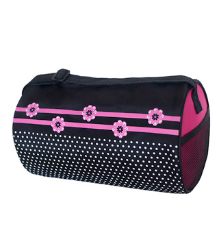 Flowers n Dots Duffle Bag - Style No FDT02B