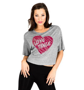 Adult Love Dance Crop T-Shirt - Style No FP004