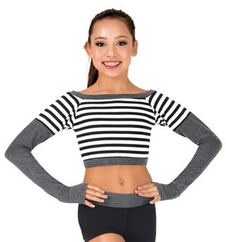Girls Stripe Crop Top - Style No FW150