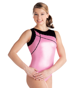 Child Zig Zag Trim Tank Leotard - Style No G3664C