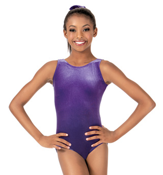 Child Basic Velvet Tank Leotard - Style No G505C