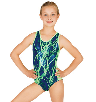 Child Gymnastic Lightning Bolt Tank Leotard - Style No G513Cx