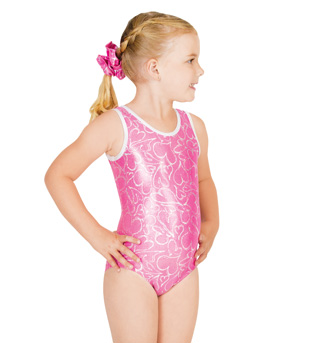 Child Gymnastic Heart Tank Leotard - Style No G514C