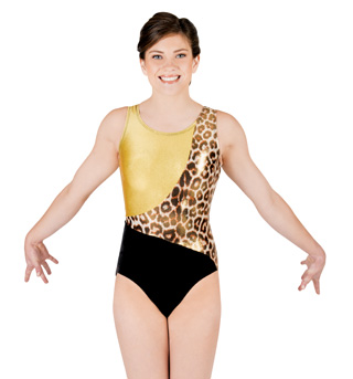 Adult Gymnastic Block Tank Leotard - Style No G519