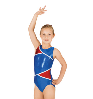 Child Gymnastic Patriotic Leotard - Style No G523Cx