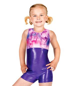 Child Gymnastic Two-Tone Biketard - Style No G529Cx