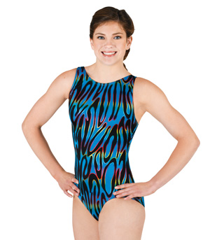 Adult Gymnastic Side Swirl Tank Leotard - Style No G532x
