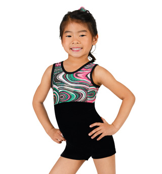 Child Gymnastic Swirl Biketard - Style No G533C