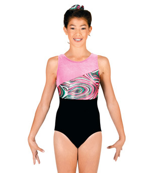 Adult Gymnastic Spliced Tank Leotard - Style No G535x