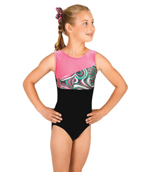 Child Gymnastic Spliced Tank Leotard - Style No G535Cx