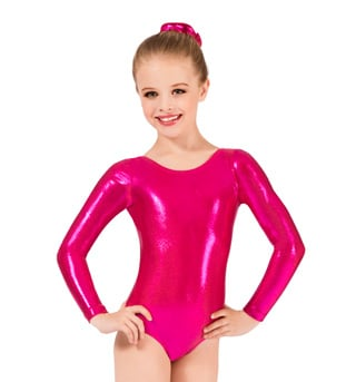 Child Long Sleeve Metallic Leotard - Style No G545C