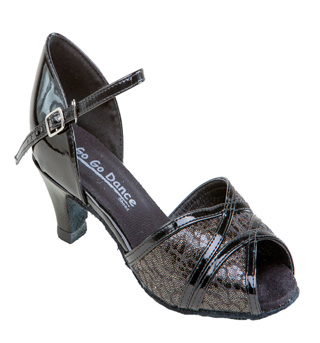 Ladies Latin/Rhythm Ballroom Shoe w/2.5 Inch Heel - Style No GO740