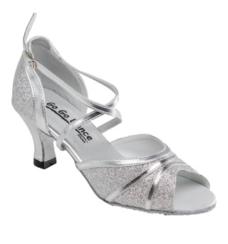 Ladies Latin/Rhythm Ballroom Shoe w/2.5 Inch Heel - Style No GO981