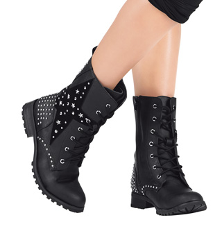 Girls Star Combat Boot - Style No GS7C