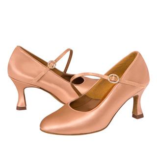 Ladies Smooth Round Toe Ballroom Shoe - Style No ICSR