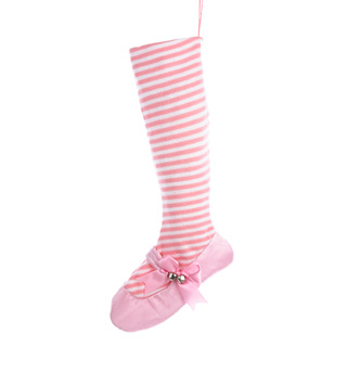 Ballet Shoe Holiday Stocking - Style No J9878x