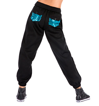 Child Metallic Pocket Sweatpants - Style No K3800SIL