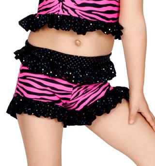 Child Pink Zebra Ruffle Short - Style No K5084