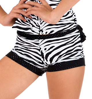 Child Zebra Ruffle Dance Short - Style No K5103