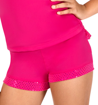 Child Pink Ruffle Dance Short - Style No K5107