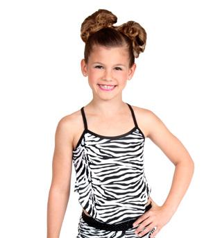 Girls Zebra Camisole Top - Style No K5123