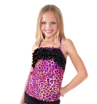 Girls Leopard Camisole Top - Style No K5160