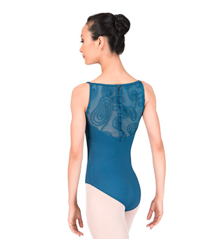 Adult Camisole Swirl Mesh Leotard - Style No L4707