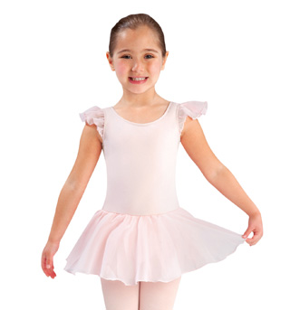 Girls Flutter Sleeve Ballet Dress - Style No LD141CK