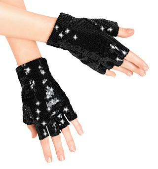 Child Sequin Fingerless Gloves - Style No LS108C