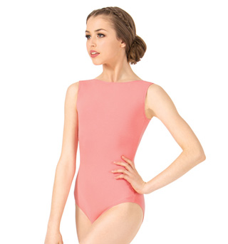Adult Brushed Cotton Boat Neck Tank Dance Leotard - Style No LUB213