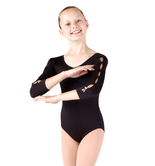 Girls 3/4 Sleeve Dragonfly Leotard - Style No M102C