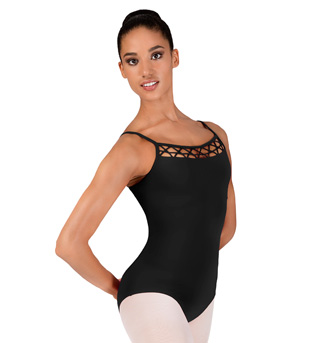 Adult Camisole Lattice Front Leotard - Style No M2060LM