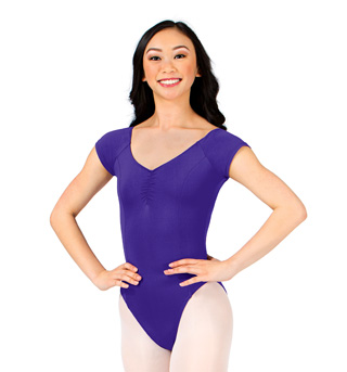 Adult Pinch Front Cap Sleeve Leotard - Style No M2149