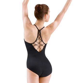 Adult Rouleaux Beaded Knot Back Camisole Leotard - Style No M4008LM