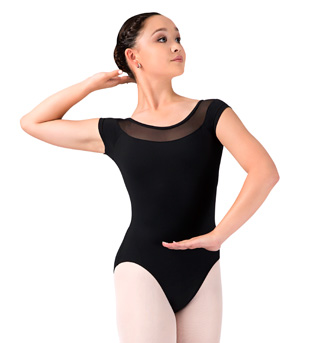Adult Mesh Cap Sleeve Leotard - Style No M5018LM