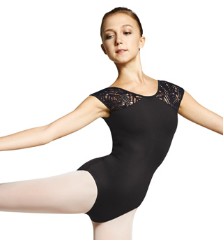 Adult Peacock Plume Cap Sleeve Leotard - Style No M5027LM
