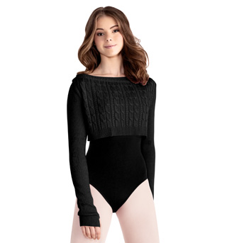 Adult Cable Knit Crop Sweater - Style No M7006L