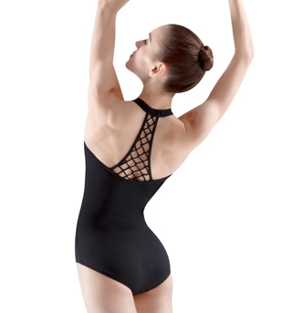 Rouleaux Beaded Knot Halter Leotard - Style No M8020LM