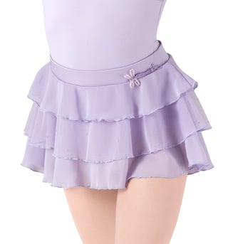 Girls 3 Tier Glitter Mesh Skirt - Style No MS75C