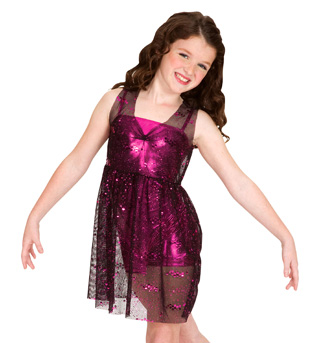 Child Foil Mesh Overdress - Style No N7030C