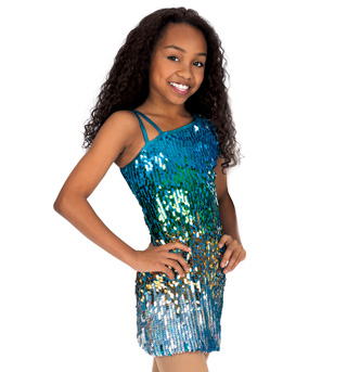 Child Sequin One Shoulder Dress - Style No N7040C