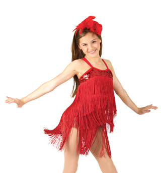 Child Fringed Dress with Attached Leotard - Style No N7070Cx