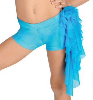 Child Mesh Ruffle Dance Shorts - Style No N7082C