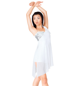 Adult Lyrical Dress with Attached Shorty Unitard - Style No N7100