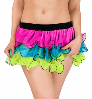 3 Layer Neon Tutu with Fish Hem - Style No N7145