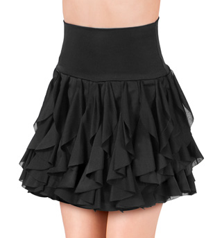 Girls Spiral Hem Skirt with Brief - Style No N7146C