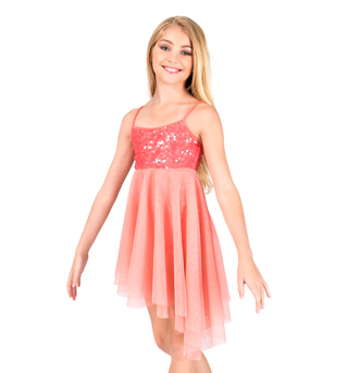 Girls Asymmetrical Camisole Dress - Style No N7175C