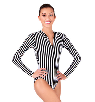 Adult Hooded Long Sleeve Leotard - Style No N7213